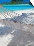 Hammock on Tropical Beach, Maldives, Indian Ocean, Asia Prints by Sakis Papadopoulos