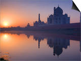 Taj Mahal, UNESCO World Heritage Site, Reflected in the Yamuna River, Agra, Uttar Pradesh, India, A Prints by Ben Pipe