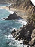 Rocky Stretch of Coastline in Big Sur, California, United States of America, North America Posters by Donald Nausbaum