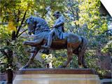 Statue of Paul Revere Near Old North Church, Boston, Massachusetts, USA Art by Fraser Hall