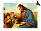 Jesus and Children Posters
