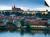 St Vitus Cathedral, River Vltava, UNESCO World Heritage Site, Prague, Czech Republic Prints by Gavin Hellier
