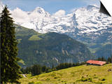 Jungfrau Massif From Murren, Jungfrau Region, Switzerland, Europe Kunst af Michael DeFreitas
