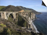 Bixby Bridge, Along Highway 1 North of Big Sur, California, United States of America, North America Prints by Donald Nausbaum