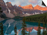 Early Morning Reflections in Moraine Lake, Banff National Park, UNESCO World Heritage Site, Alberta Posters by Martin Child