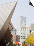 Downtown Denver Art Museum, Denver, Colorado, USA Print by Christian Kober