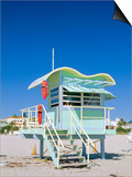 South Beach Lifeguard Station, Art Deco, Miami Beach, Florida, USA Prints by Fraser Hall