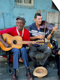 Musicians Playing Salsa, Santiago De Cuba, Cuba, West Indies, Central America Prints by  R H Productions