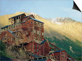 Old Copper Mine Buildings, Preserved National Historic Site, Kennecott, Alaska, USA Posters by Anthony Waltham