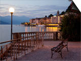 Promenade and Lake at Dusk, Bellagio, Lake Como, Lombardy, Italian Lakes, Italy, Europe Prints by Frank Fell