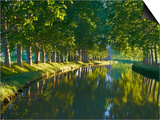 Navigation on Canal du Midi, UNESCO World Heritage Site, Aude, Languedoc Roussillon, France Poster by  Tuul