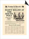 Scott Killed at the South Pole Posters
