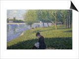 Study for Sunday on la Grande Jatte Poster av Georges Seurat