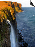 Waterfall at Kilt Rock, Famous Basaltic Cliff Near Staffin, Isle of Skye, Inner Hebrides, Scotland, Prints by Peter Richardson