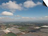 Aerial Photo of Clouds and Farm Fields, Ventura, California, USA, North America Posters by Antonio Busiello