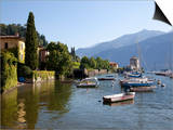 Boat Harbour and Lake Como, Bellagio, Lombardy, Italian Lakes, Italy, Europe Posters by Frank Fell