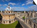 View over Radcliffe Camera and All Souls College, Oxford, Oxfordshire, England Poster by Stuart Black