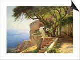 Laubengang in Amalfi Poster von Carl Frederic Aagaard