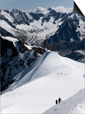 Climbers on Mont Blanc, Aiguille Du Midi, Mont Blanc Massif, Haute Savoie, French Alps, France, Eur Posters by Angelo Cavalli
