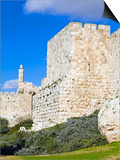 Citadel (Tower of David), Old City Walls, UNESCO World Heritage Site, Jerusalem, Israel Prints by Gavin Hellier