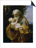 St. Joseph with the Jesus Child Posters by Guido Reni