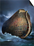 Literary Ark, Conceptual Artwork Art by  SMETEK