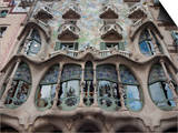Facade of Casa Batllo by Gaudi, UNESCO World Heritage Site, Passeig de Gracia, Barcelona, Spain Posters by Nico Tondini