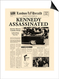 Kennedy Assassinated Prints by  The Vintage Collection