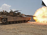 Marines Bombard Through a Live Fire Range Using M1A1 Abrams Tanks Prints by  Stocktrek Images