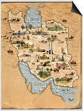 Iran, Pictorial Map Posters by  SMETEK