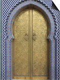 Door, Royal Palace Gates, Fez, Morocco, North Africa, Africa Prints by Vincenzo Lombardo
