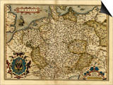 Ortelius's Map of Germany, 1570 Prints by Library of Congress
