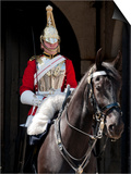 Life Guard One of the Household Cavalry Regiments on Sentry Duty, London, England, United Kingdom Print by Walter Rawlings