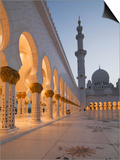 Sheikh Zayed Mosque, Abu Dhabi, United Arab Emirates, Middle East Prints by Angelo Cavalli