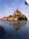 Mont Saint Michel (Mont-St. Michel), Manche, Normandie (Normandy), France Poster by Bruno Morandi