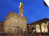Piazza della Signoria and Palazzo Vecchio, Florence, UNESCO World Heritage Site, Tuscany, Italy Poster by Vincenzo Lombardo
