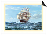 Racing Home, The Cutty Sark Print by Montague Dawson