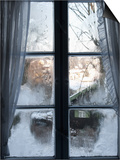 View of Bad Tolz Spa Town Covered By Snow at Sunrise From Window, Bavaria, Germany, Europe Art by Richard Nebesky