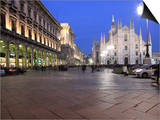 Piazza Duomo at Dusk, Milan, Lombardy, Italy, Europe Art by Vincenzo Lombardo