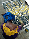 Cotton Rug Making, Craft Workshop of Bogolan, Segou, Mali Art by Bruno Morandi
