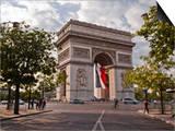 The Arc de Triomphe on the Champs Elysees in Paris, France, Europe Prints by Julian Elliott