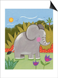 Baby Elephant Print by Sophie Harding