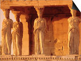 Caryatids Portico, Figures of the Six Maidens, Erechtheion, Athens, Greece, Europe Prints by Guy Thouvenin
