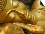 Detail of Statue of Buddha, Phu Si Hill, Luang Prabang, UNESCO World Heritage Site, Laos, Indochina Prints