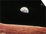 Earthrise As Seen From Above Surface of the Moon Posters