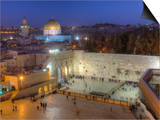 Jewish Quarter of Western Wall Plaza, Old City, UNESCO World Heritge Site, Jerusalem, Israel Prints by Gavin Hellier
