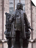 Statue of Bach, Leipzig, Saxony, Germany, Europe Print by Michael Snell