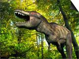 Tyrannosaurus Dinosaur, Artwork Art by Walter Myers