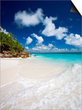 Tropical Beach, Seychelles, Indian Ocean, Africa Poster by Sakis Papadopoulos