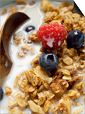 Crunchy Muesli with Berries and Milk Prints